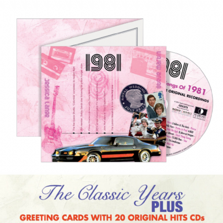 1980 to 1989  The Classic Years CD Greeting Card.